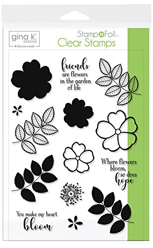 Gina K. Designs for Therm O Web StampnFoil Clear Stamps, Where Flowers Bloom