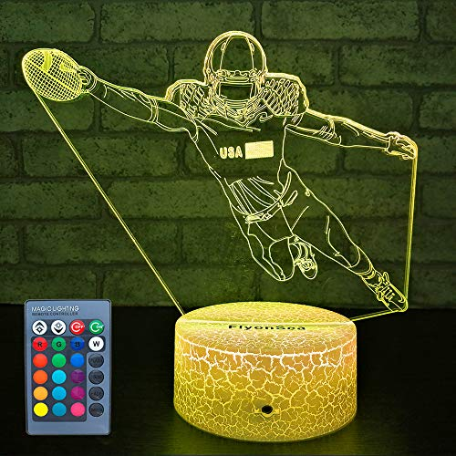 FlyonSea Kids Football Gifts,Football Party Supplies 16 Color Changing Kids Night Light with Touch and Remote Control, Baby Football Decor Light Birthday Christmas Gifts for Kids Boys Baby
