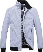 Hixiaohe Men's Casual Jacket Lightweight Bomber Jackets Slim Fit Softshell Windbreakers