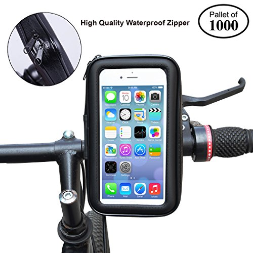 Check Out This CARTMAN Waterproof Smartphone Bike Mount Holder with Transparent Touchable Pouch Case...