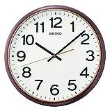 Seiko Reloj de pared Plástico Metálico Marrón Blanco Cara QXA750B