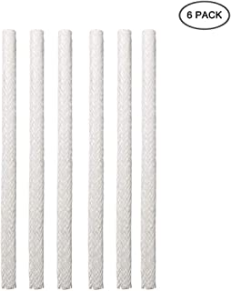 EVERMARKET INC Long Life Fiberglass Replacement Wicks for Oil Lamps and Candles Wine Bottle Wicks for Tiki Torch, 0.5'' by 14'' (6 Pack)