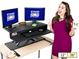 Stand Steady Flexpro Air Standing Desk - Precision Desk Converter with Hydraulic Lift Assist (Sit or Stand) - Instantly Change Any Surface to a Stand Up Desk - No Assembly Required (36 inch)