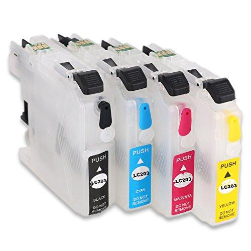LC203 LC201 Empty Refillable Ink Cartridge Use for MFC-J460DW J480DW J485DW J680DW J880DW J885DW MFC-J4320DW J4420DW J4620DW J5520DW J5620DW J5720DW Printers Nebraska