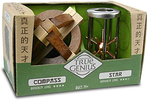 Project Genius Compass and Star Combo, True Genius - Disentanglement Puzzles, Brain teasers, Adult...