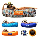Boha Inflatable Lounger Bag Air Sofa Lounge Hammock and Pool Float, Perfect for Hiking Camping Beach Hangout Music Festivals Pool Parties, The Most Comfortable Air Lounger! (Funky Plaid)