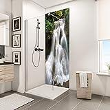 Schulte panneau mural décoratif DecoDesign PHOTO, revêtement mural pour douche et salle de bains, motif cascade, 90x210 cm
