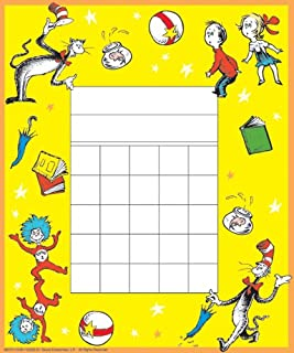 Eureka Back to School Dr. Seuss The Cat in the Hat Mini Reward Charts for Kids with Stickers, 736pc, 5'' W x 6'' H