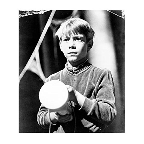 Lost in Space (1965) 8 x 10 Photo B&W Billy Mumy Pic Holding Light kn