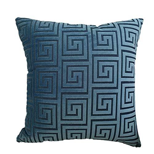 YONGYONG Taie d'oreiller en cachemire coupe classique européenne lit canapé coussin taie d'oreiller taie d'oreiller de bureau (Color : Blue, Size : M)
