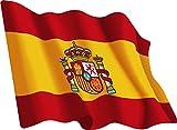 Artimagen Pegatina Bandera Ondeante España 80x60 mm.