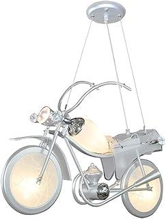 Ahzhlb Creative Boy Chambre Pendentif Lumière de Suspension en Forme de Moto, Accessoires en Acrylique, Lustres en Verre, ...