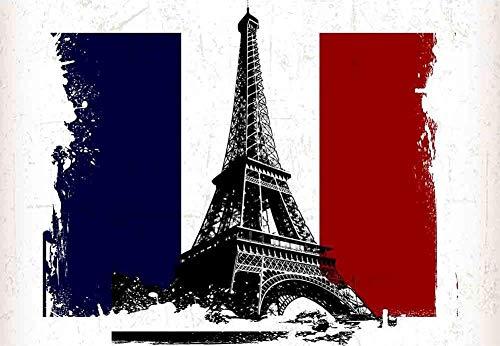 Murales Fotomurales Torre Eiffel En París Papel Pintado No Tejido 3D Papel De Pared Dormitorios Salón Hotel Fondo De Tv Elegante Moderno Fine Decor Murales 350 X 250 Cm