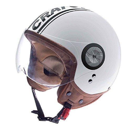 Cratoni Rollerhelm/E-Bike Helm Milano, White-Black Glossy, Gr. L (59-60 cm)