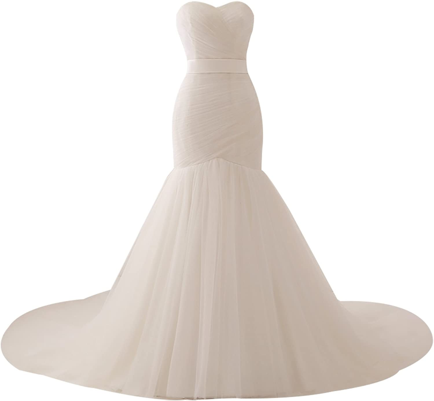 Epinkbridal Sweetheart Mermaid Wedding Dress Gowns for Bride Women's Bridal Gowns