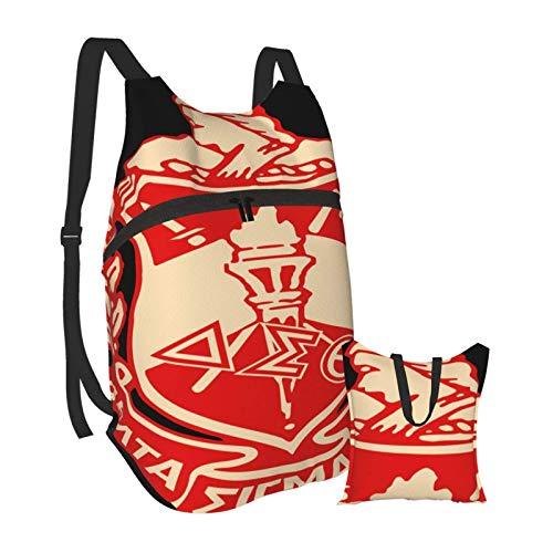 KANSS Del Ta Sigma Theta Hiking Bapack Men and Women Waterproof Portable Folding Bapack Travel Sports Shopping Ultra Light Leisure Bag