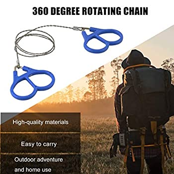 Zinniaya Scie à fil en acier inoxydable haute résistance pour randonnée, camping