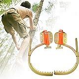 FSJD Espigas de árboles trepadores, Hebilla pie para trepadores Electricista, Equipo trepar Trabajar en árboles, Duradero, Adecuado la Caza y observación, recolección Frutas