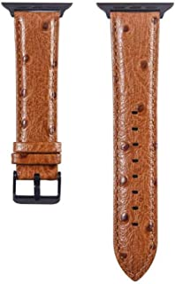 QINZIXIA AU Business new watch band suitable for apple iwatch ostrich pattern leather strap