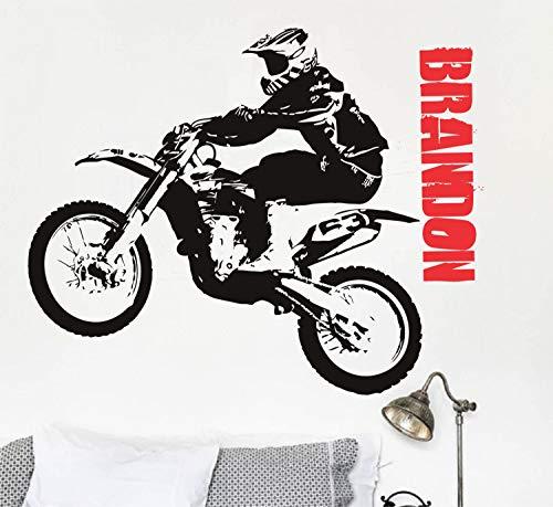Motorfiets muursticker vinyl sticker sticker sticker tattoo motocross fiets naam sticker