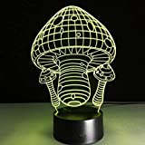 YOUPING Lámpara 3D de Seta de 7 Colores LED de Noche de Lámparas para Niños Toque Led USB Mesa de Bebé Dormir Luz de Noche