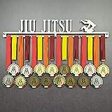 JIU Jitsu - Colgador de medallas Deportivas - Medallero de Pared Artes Marciales, BJJ - Sport Medal Hanger - Display Rack (750 mm x 115 mm x 3 mm)