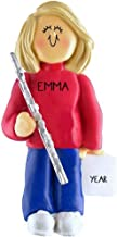 Flute Player Personalized Music Christmas Ornament Personalized Free (Female Blond Hair)