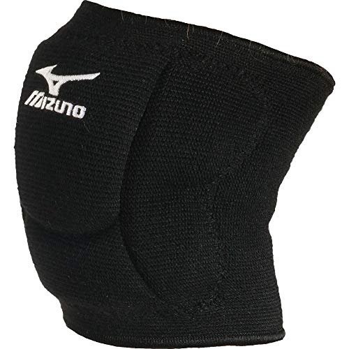 Mizuno Unisex's VS1 Compact kneepad, Black/Black, Larg