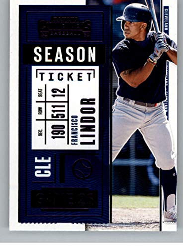 2020 Panini Contenders Purple Baseball #3 Francisco Lindor Cleveland Indians Official MLB PA Trading Card From Panini America in Raw (NM or Better) Condition
