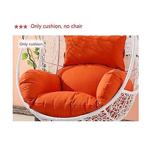XGXQBS kussen voor hangstoel, zonder standaard, wasbaar, dikke schommelstoel, om op te hangen met kussen Oranje.