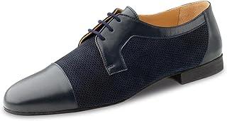 Werner Kern 28049 - Zapatos de baile para hombre, piel azul oscuro, normal, tacón de 1,5 cm, fabricados en Italia