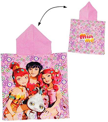 alles-meine.de GmbH Badeponcho -  Mia and Me  - 3 bis 6 Jahre Poncho - mit Kapuze - Handtuch Strandtuch Baumwolle - 50 cm * 105 cm - Mädchen für Kinder Badehandtuch - Einhorn Y..