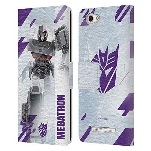 Head Hülle Designs Offizielle Transformers Megatron Decepticons Schluessel Kunst Leder Brieftaschen Handyhülle Hülle Huelle kompatibel mit Wileyfox Spark X