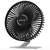 OPOLAR 2021 6 inch USB Desk Fan, Upgraded Strong Airflow, 4 Speeds, Ultra-quiet, Mini Personal Table Fan for Home Bedroom Office, 90°Adjustment, 4.9 ft Cord, Silver (No Battery)