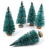 YWCTing ILOVEDIY 10Stück Weihnachtsbaum Künstlich Klein Weihnachtsdeko 4.5cm 6.5cm 12.5cm (Blau, Höhe 4.5cm-10Stück)