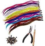 Reccisokz Kits de extensión de pelo sintético con 52 extensiones de pelo...
