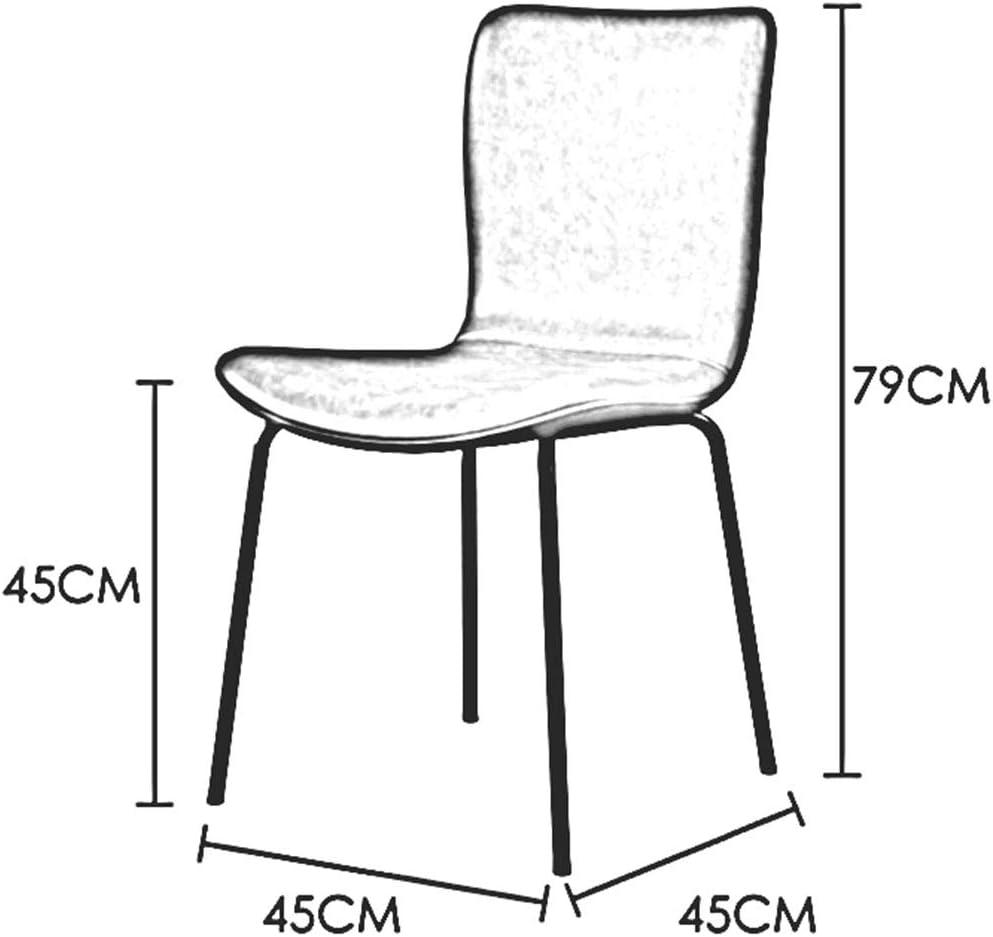 DALL Chaise De Salle à Manger,Coussin PU,Pieds en Métal,Chaise De Table avec Dossier,Chaise Nordique De Maquillage,45x45x79 Cm(Color:T3) T2