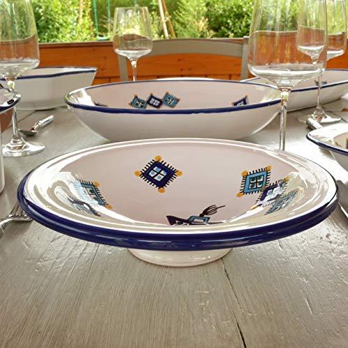 Assiette Tebsi Sahel bleu - D 23 cm