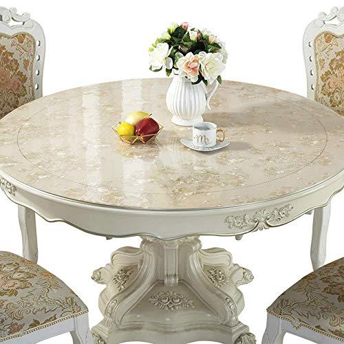 Pvc tafelkleed rond zacht glas bescherming transparant kristal antislip helder bureau onderlegger 200CM 2 mm