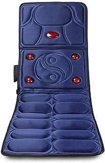 GFQ Masajeador de Espalda con Calor Masaje Corporal Calefacción Cuello Cintura Espalda Espalda Caderas Vibración Multifuncional Colchón de Masaje de Oficina en casa