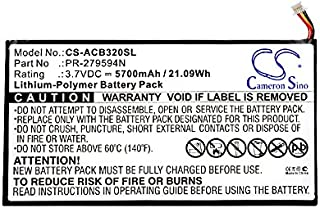 CS Tablet batería, Polímero de Litio 5700mAh Apta para Acer Iconia One 10b3-a20, Iconia Tab 10A3de A40, a5008, Iconia One 10B3de A30, sustituye a Acer pr de 279594N con Juego de Herramientas