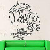Pegatinas de pared de dibujos animados calcomanías de vinilo de oso dormitorio...
