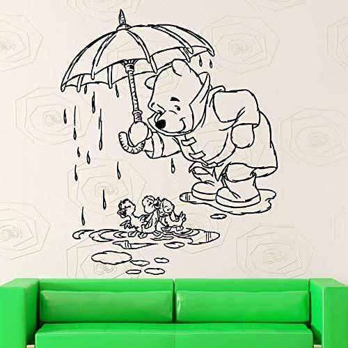 Pegatinas de pared de dibujos animados calcomanías de vinilo de oso dormitorio de los niños habitación de bebé decoración de jardín de infantes