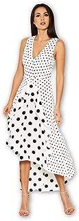 AX Paris Women's Polka Dot Asymmetric Dress