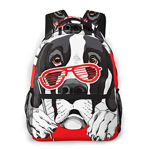 Laptop Rucksack Schulrucksack Animal Dane Dog Grill, 14 Zoll Reise Daypack Wasserdicht für Arbeit Business Schule Männer Frauen