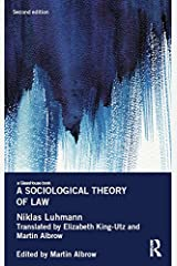 A Sociological Theory of Law (Glasshouse Books) Kindle Edition