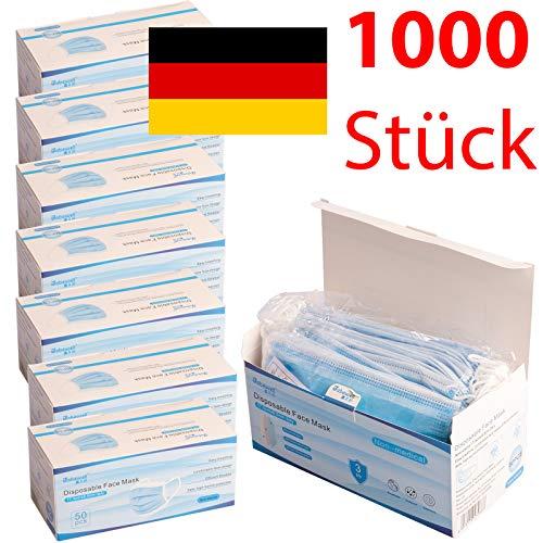 Atemmaske Mundschutz 1000 Stück Schutzkleidung Einwegmasken Schutzmasken Atemschutzmaske