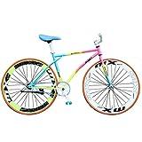 Bicicleta Bicicleta De Montaña Carretera Mujer Chic Arco Iris Cómodo Y Ligero Asiento Ajustable Bicicleta Necesita Instalar (26 Pulgadas) ,Se Adapta A Más De 165 CM