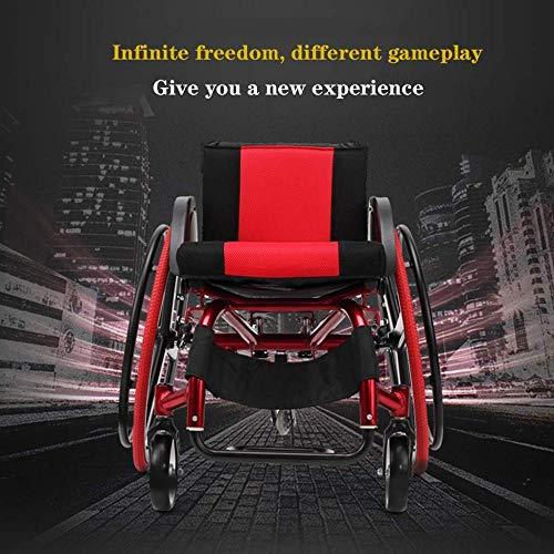 FKYUYU Tragbarer Rollstuhl , Sportrollstuhl-Klappwagen Für Behinderte Und ältere Menschen Tragbarer Manueller Rollstuhl-Schnellspanner Mit Kippschutz