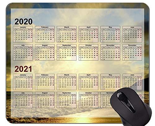 Kundenspezifische ursprüngliche Mausunterlage des Galaxie-Kalender-2020, Strand-Ferien-themenorientierte Gummimausunterlage
